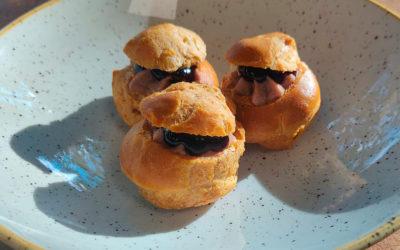 Foie Royale Savoury Choux Buns with Gooseberry Preserve