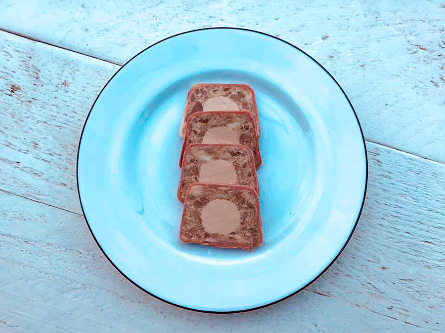 Foie-Royale-Terrine-Confit-Duck-Leg-in-a-layer-of-smoked-duck-breast-and-the-heart-Foie-Royale--copy