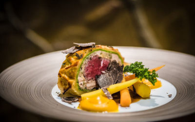 Beef Wellington with Foie Royale and Sauté Mushroom