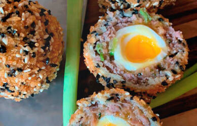Foie Royale Scotch Eggs by Chef Dan Moon
